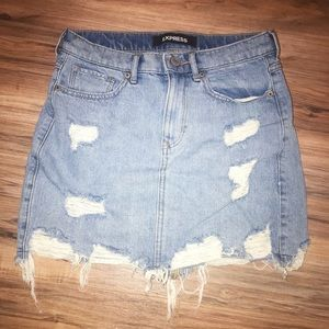 Express High-waist Denim Skirt